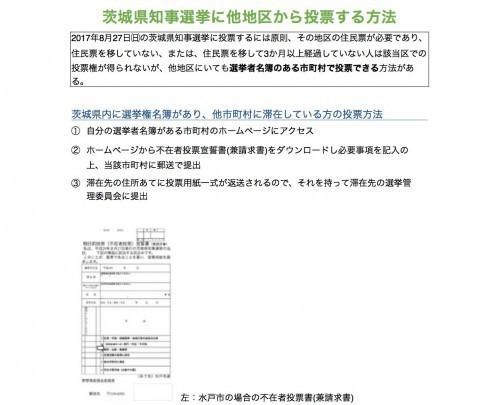 東京に住んでいる大学生のオンちゃんは、茨城県知事選に投票できるのか。