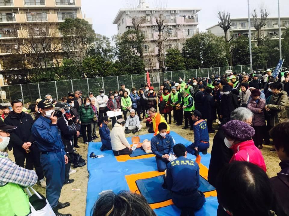 板橋区総合防災訓練。