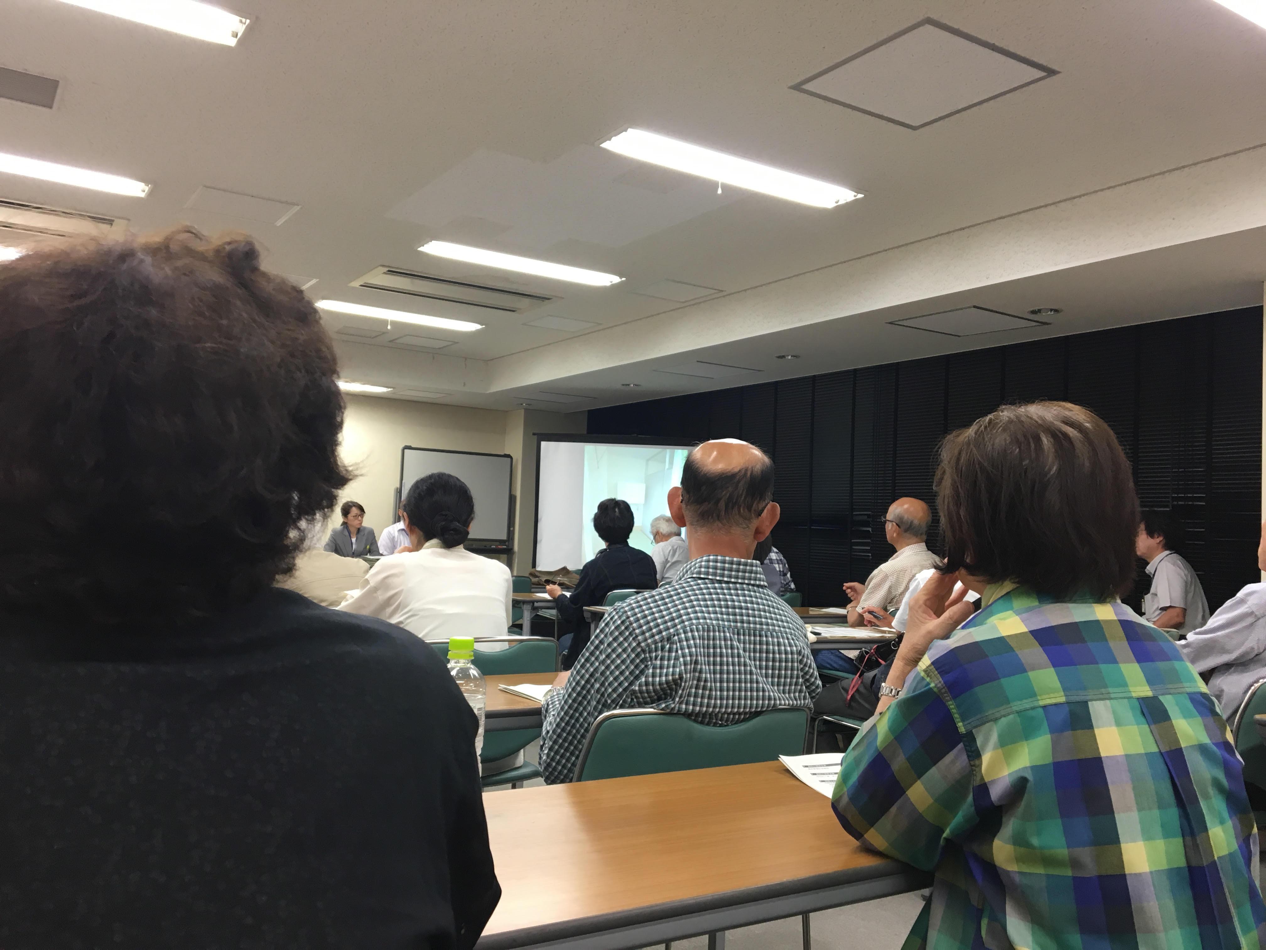 自立支援センターの設置に関する住民説明会に参加しました。
