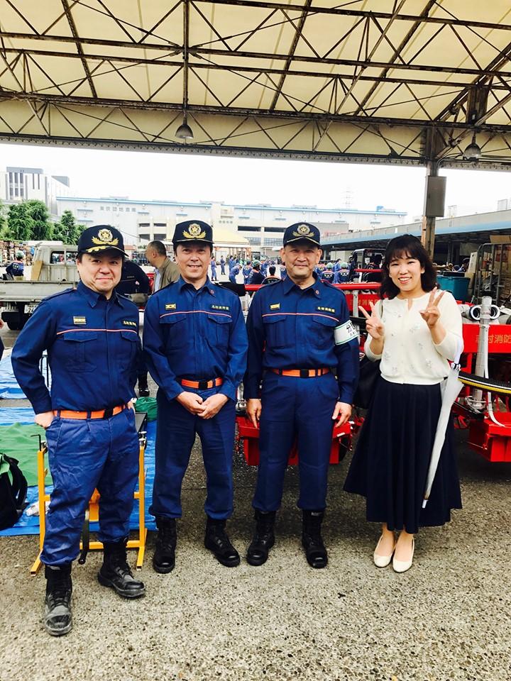 志村消防団操法大会。