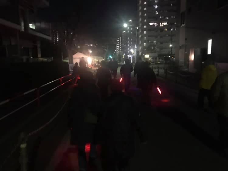 高島平二丁目町会で、夜回りをしました⭐︎
